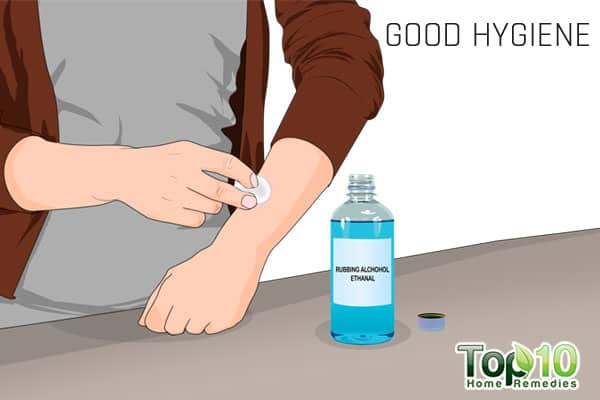 maintain good hygiene to prevent ringworm of the body