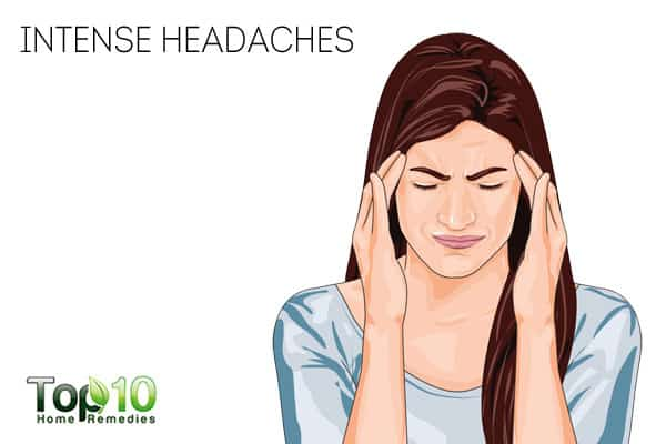 intense headaches can be a sign of nerve damage