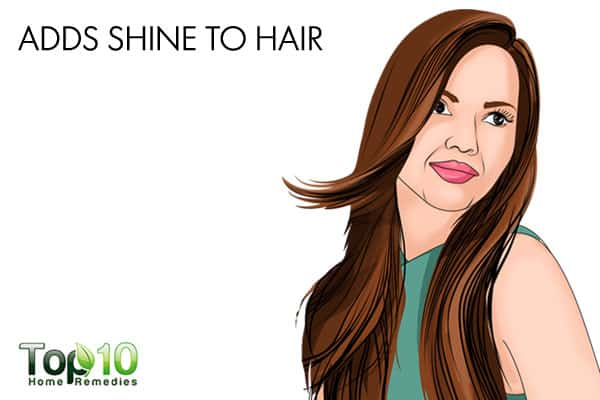 olive oil adds shine to hair