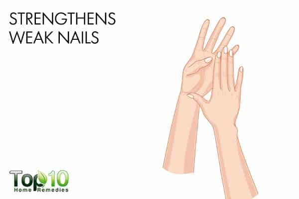 olive oil strengthens weak nails