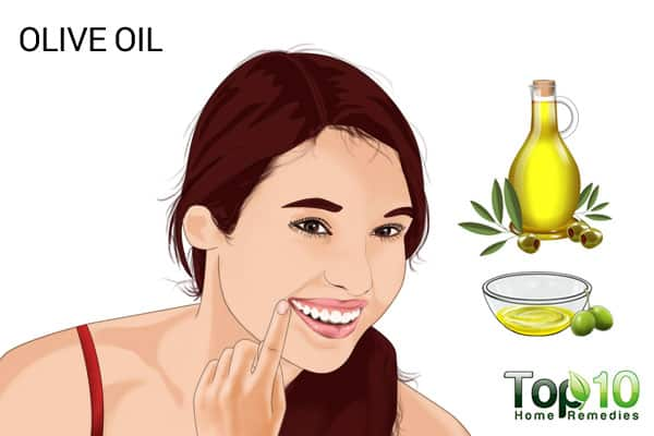 olive oil to treat smile lines
