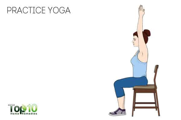 practice yoga to prevent or reduce work-related shoulder pain