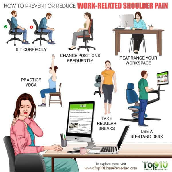 prevent or reduce work-related shoulder pain