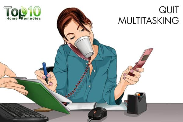 quit multitasking to improve memory