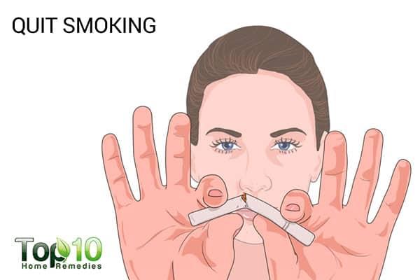 quit smoking to treat smile lines