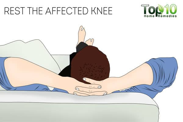 rest the affected knee for chondromalacia