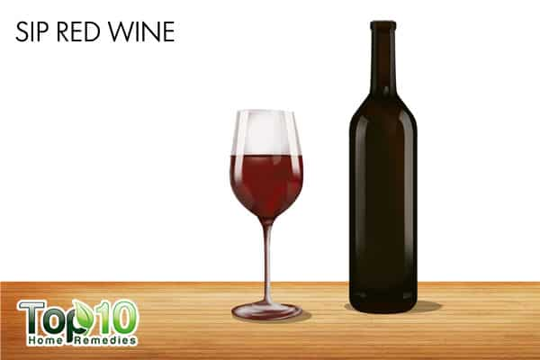 sip red wine to improve memory