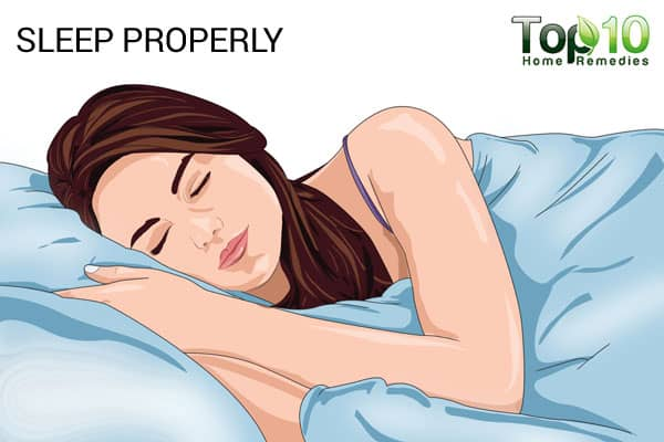 sleep properly to treat smile lines
