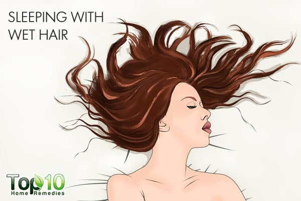 sleeping with wet hair can ruin it