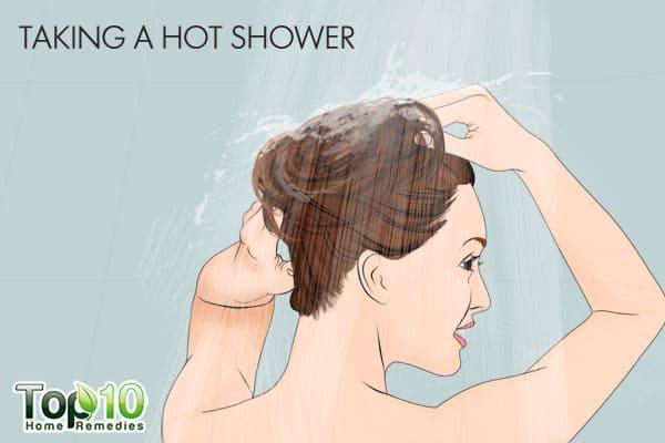 taking a hot shower can ruin hair