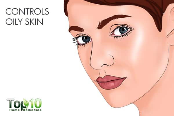 turmeric controls oily skin