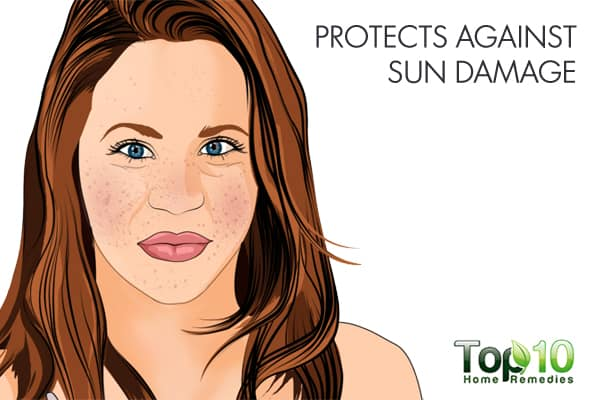 turmeric protects against sun damage