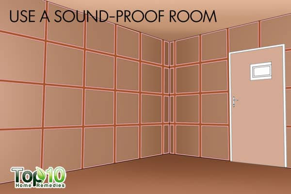 use a sound-proof room during a thunderstorm