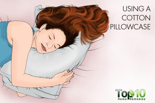 using a cotton pillowcase can ruin hair