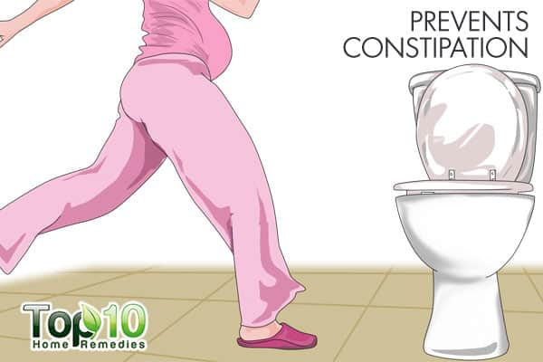 warm water prevents constipation
