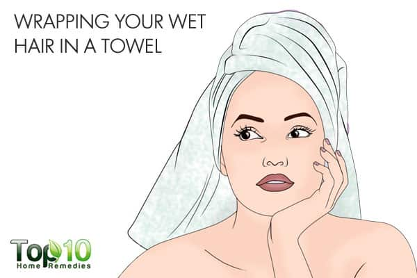 wrapping wet hair in a towel can ruin it