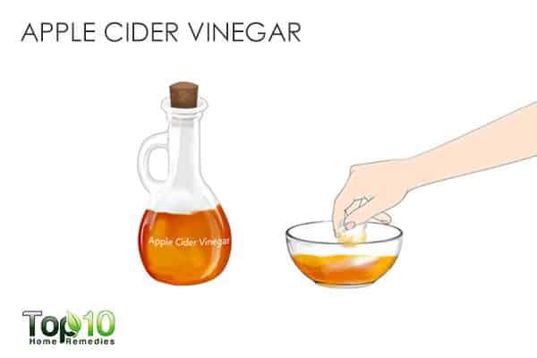 Apple cider vinegar to get rid of shoulder acne