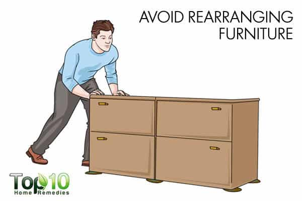 avoid rearranging furniture to avoid old dog injuries