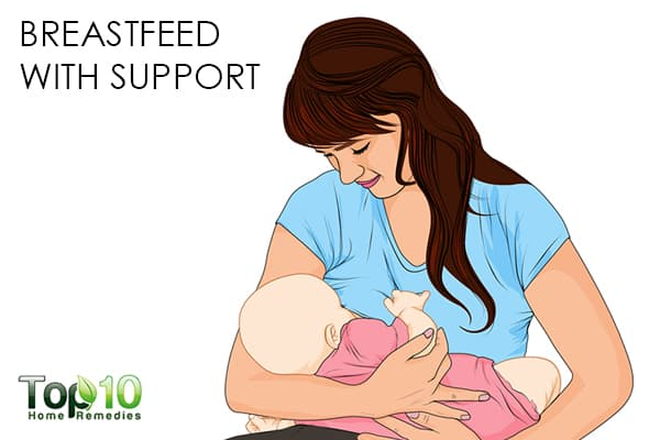 breastfeed with support to recover faster after a C-section