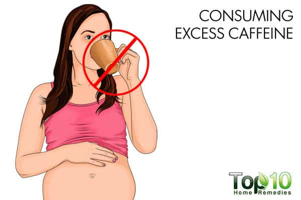 avoid consuming excess caffeine during pregnancy