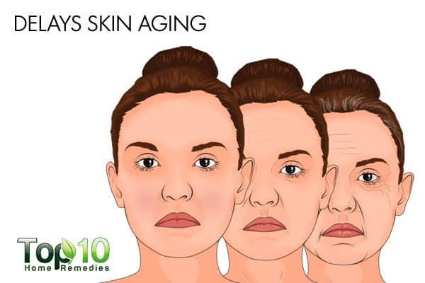 MUFAs delay skin aging