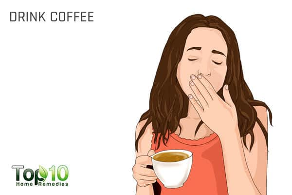 drink coffee to fix migraine headache