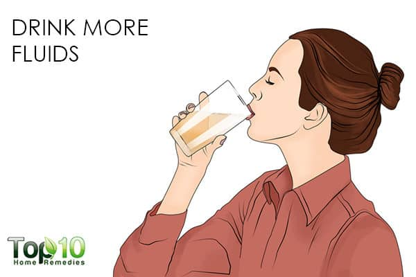 drink more fluids to get glowing skin