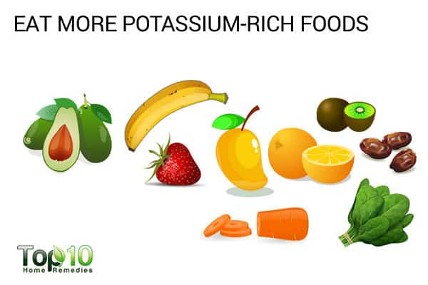 eat potassium rich foods to heal muscles