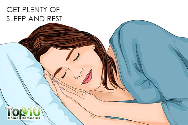 get plenty of sleep and rest to recover faster after a C-section