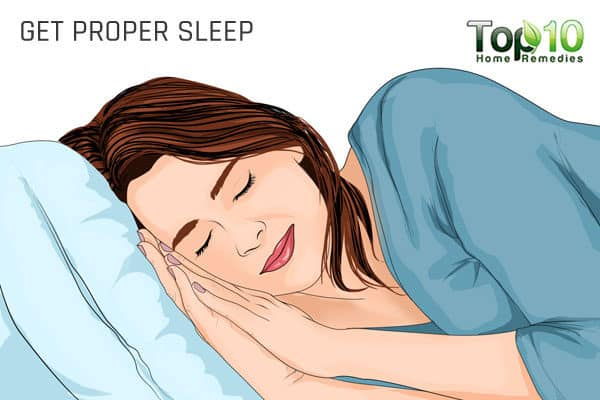 get proper sleep to avoid migraines