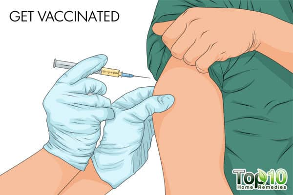 get vaccinated to protect from flu