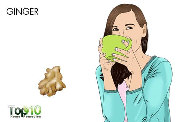 ginger to treat pain when swallowing