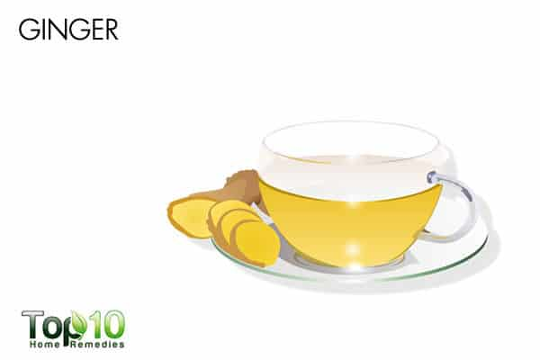 drink ginger tea to reduce pain in arms