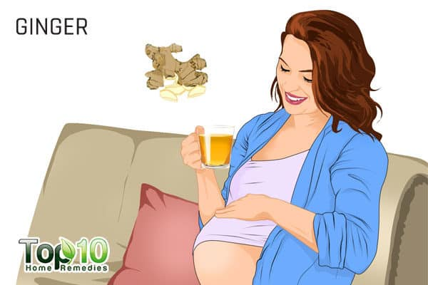ginger treats rhinitis in pregnancy