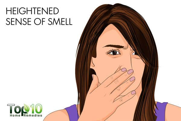 heightened sense of smell