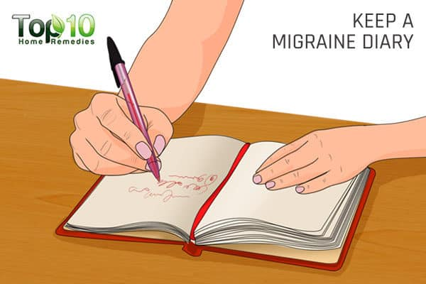 keep a migraine diary to control migraine triggers
