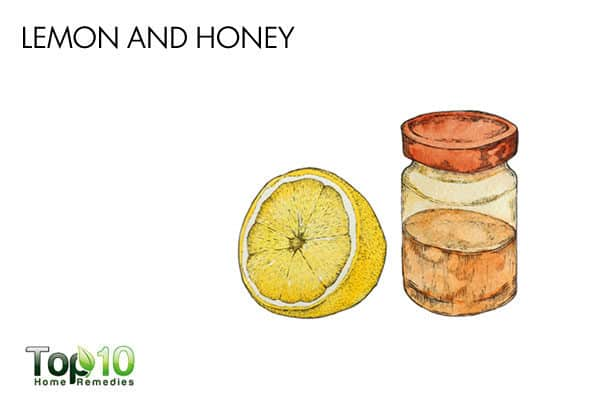 lemon and honey to treat pain when swallowing
