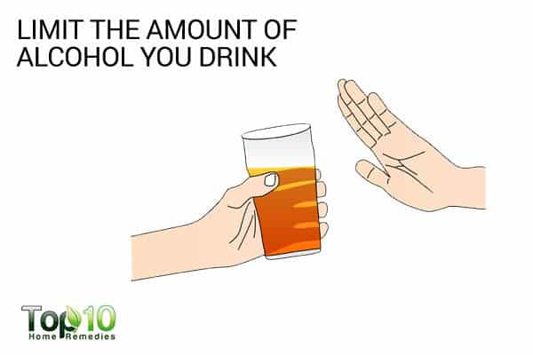 limit alcohol intake to avoid muscle problems