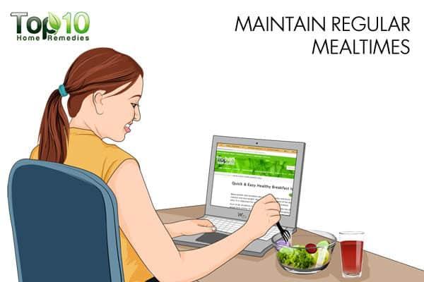 maintain regular mealtimes when working night shift