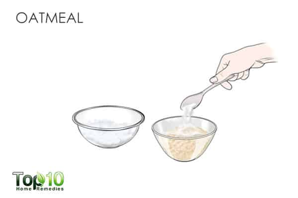 oatmeal to get rid of shoulder acne