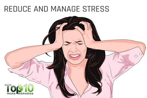 reduce stress to control menopausal problems