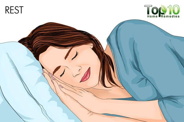 get rest to relieve arm pain