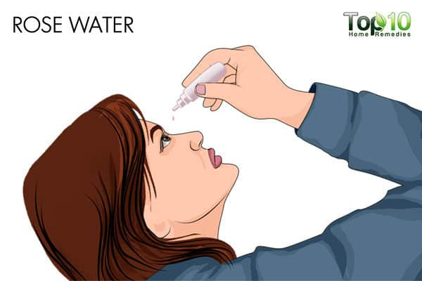 rose water eye wash for allergic conjunctivitis