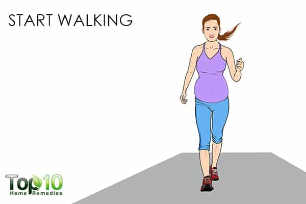 start walking to recover faster after a C-section
