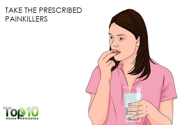 take the prescribed painkillers to recover faster after a C-section