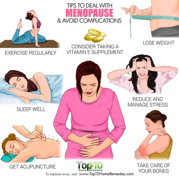 tips to deal with menopausal complications