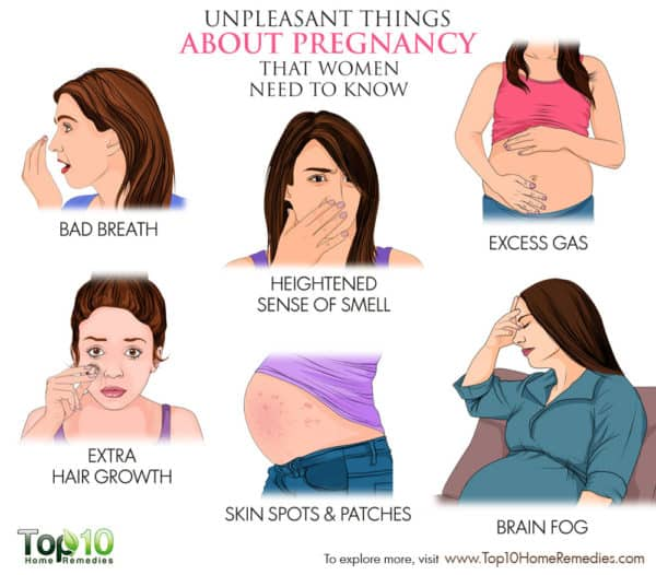 unpleasant things about pregnancy every woman should know