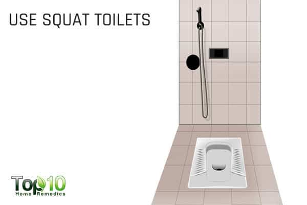 use a squat toilet to ease constipation during pregnancy