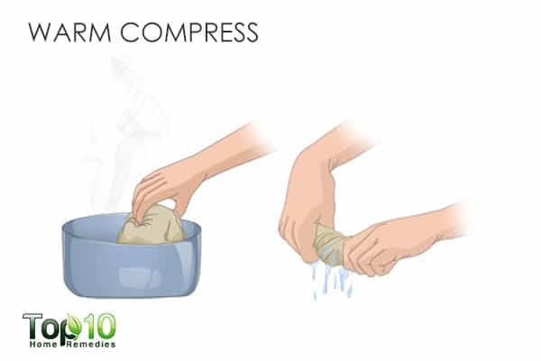warm compress to get rid of boils
