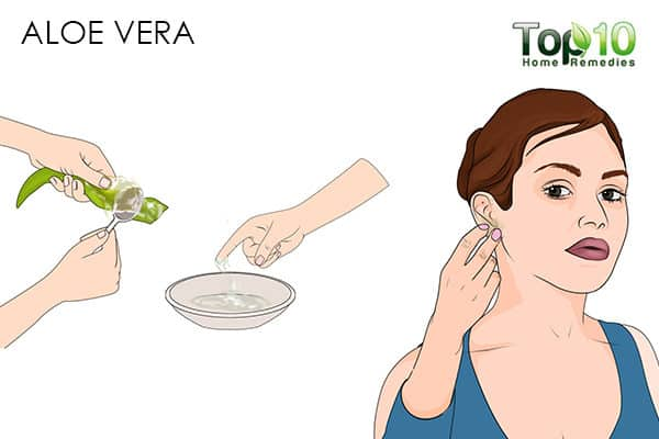 aloe vera for ear pimples